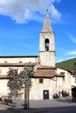 圣玛丽亚della瓦尔在Scanno,意大利 库存照片