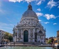 圣玛丽亚della致敬大教堂在威尼斯 免版税库存图片