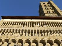 圣玛丽亚della Pieve,阿雷佐(意大利) 库存照片