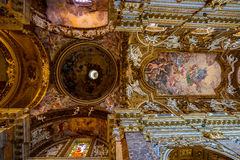 圣玛丽亚della Vittoria教会。罗马。意大利。 免版税库存照片