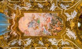 圣玛丽亚della Vittoria教会在罗马,意大利 库存图片