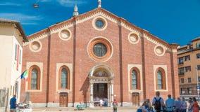 圣玛丽亚delle与蓝色多云天空的Grazie timelapse 影视素材