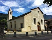 圣玛丽亚delle贝林佐纳,小行政区提契诺州Grazie教会  瑞士 库存照片