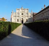 圣玛丽亚delle Grazie,切尔托萨迪帕维亚 库存照片