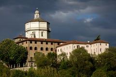 圣玛丽亚di Monte dei Cappuccini教会在都灵,意大利 免版税图库摄影