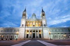 圣玛丽亚la Real de La Almudena Catholic大教堂在马德里 免版税库存照片