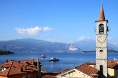 圣玛丽亚Madre教会, Laveno,意大利 免版税库存照片