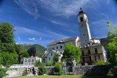圣玛丽亚Maggiore主要教会,瓦尔Vigezzo,意大利 库存图片