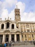 圣玛丽亚Maggiore大教堂在罗马意大利 免版税库存图片