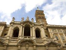圣玛丽亚Maggiore大教堂在罗马意大利 免版税图库摄影