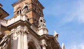 圣玛丽亚MAGGIORE大教堂塔在罗马 图库摄影