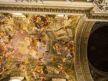 圣玛丽亚Maggiore大教堂的内部的细节在罗马意大利 免版税图库摄影