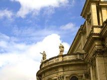圣玛丽亚Maggiore大教堂的后面在罗马意大利 库存图片