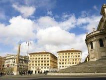 圣玛丽亚Maggiore大教堂的后面在罗马意大利 免版税图库摄影