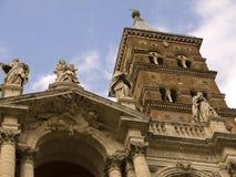 圣玛丽亚Maggiore大教堂的门面的细节在罗马意大利 图库摄影