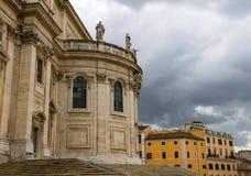 圣玛丽亚Maggiore教会在罗马,意大利 免版税图库摄影