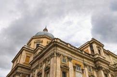 圣玛丽亚Maggiore教会在罗马,意大利 免版税库存图片