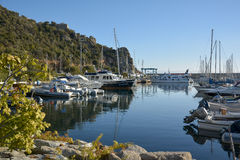 圣玛丽亚Navarrese, Ogliastra,海港 库存照片