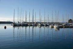 圣玛丽亚Navarrese, Ogliastra,海港 免版税图库摄影
