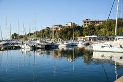 圣玛丽亚Navarrese, Ogliastra,海港 库存图片