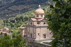圣玛丽亚Nuova教会在科尔托纳 库存图片