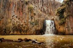 圣玛丽亚Regla玄武岩棱镜  墨西哥 免版税库存图片