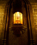 圣玛丽大城市大教堂圣洁酒杯在巴伦西亚 库存图片