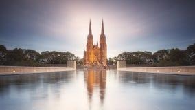 圣玛丽大教堂在悉尼 图库摄影