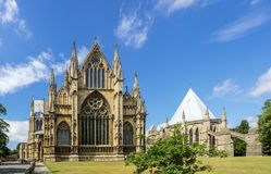 圣玛丽大教堂在林肯,英国 库存照片