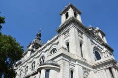 圣玛丽大教堂在米尼亚波尼斯,明尼苏达 图库摄影