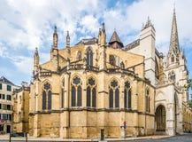 圣玛丽大教堂在巴约讷-法国 免版税库存照片