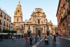 圣玛丽大教堂教会在穆尔西亚,西班牙 免版税库存图片