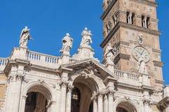 圣玛丽少校罗马教皇的大教堂在罗马,意大利 免版税库存图片