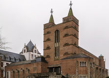 圣玛丽教会在林堡省,德国 库存图片