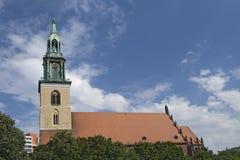 圣玛丽教会在柏林 库存照片