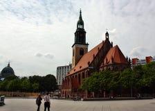 圣玛丽教会在柏林 免版税库存照片