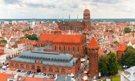 圣玛丽教会在格但斯克,波兰 库存照片