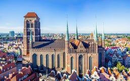 圣玛丽教会在格但斯克,波兰 免版税库存图片