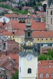 圣玛丽教会在萨格勒布 库存图片