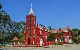 圣玛丽教会在Pyin Oo Lwin 免版税库存图片