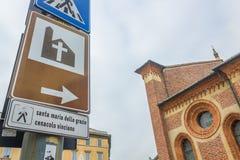 圣玛丽教会标志 免版税库存照片