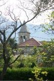圣玛丽教会的钟楼  库存图片