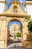 圣玛丽教会,格拉纳达西班牙阿尔罕布拉宫塔  第17 centu 库存照片