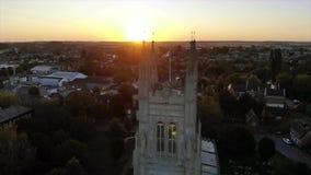 圣玛丽教会sunrice的,圣Neots 股票录像