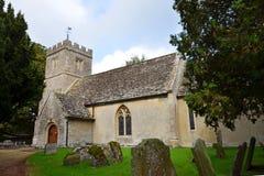 圣玛丽教区教堂Virging在Buscot 免版税图库摄影