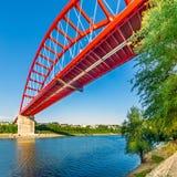 圣玛丽桥梁在切尔纳沃德 罗马尼亚 免版税库存照片
