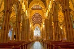 圣玛丽的大教堂内部,悉尼澳大利亚 库存照片