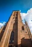 圣玛丽的大教堂在格但斯克,波兰老城镇 免版税库存照片