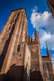 圣玛丽的大教堂在格但斯克,波兰老城镇 免版税库存图片