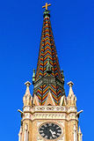 圣玛丽的大教堂塔在诺维萨德 免版税库存图片